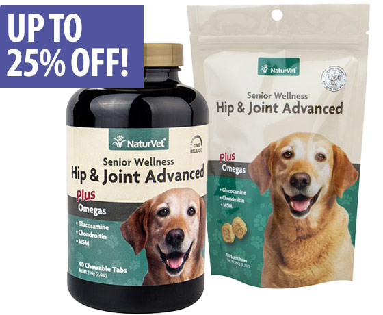Up to 25% off NaturVet® Senior Supplements