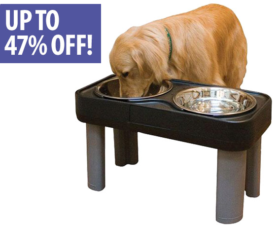 Up to 47% off Elevated Bowls & Feeders