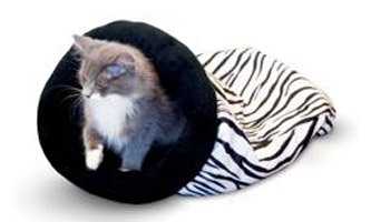 K&H™ Self-Warming Zebra Kitty Sack