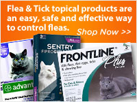 Flea & Tick topical products are an easy, safe and effective way to control fleas.